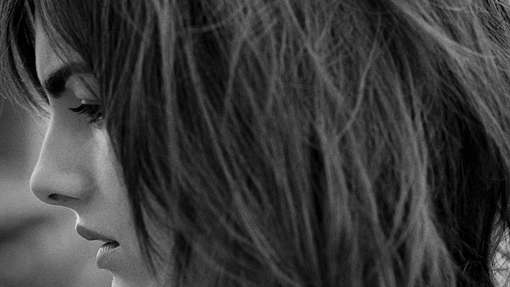 Camilla Belle Black N White Side Sad Face Closeup